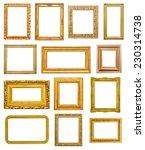golden frames on white... | Shutterstock . vector #230314738