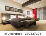 modern bedroom interior in the... | Shutterstock . vector #230327176
