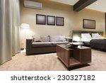 bedroom interior in the evening | Shutterstock . vector #230327182