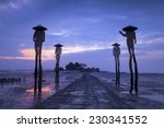 four fishermen sculptures at... | Shutterstock . vector #230341552