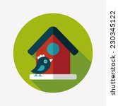 pet bird house flat icon with... | Shutterstock .eps vector #230345122