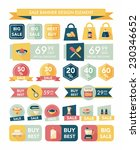 kitchen sale banner design flat ... | Shutterstock .eps vector #230346652