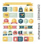 kitchen sale banner design flat ... | Shutterstock .eps vector #230346652