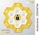 design clean number banners... | Shutterstock .eps vector #230346766