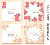 wedding invitation cards with... | Shutterstock .eps vector #230347798