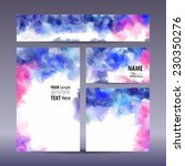vector set visual corporate... | Shutterstock .eps vector #230350276