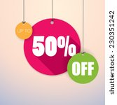 sale up to 50    colorful and... | Shutterstock .eps vector #230351242