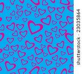 raster   heart shaped seamless... | Shutterstock . vector #23035864