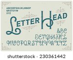 steampunk alphabet with... | Shutterstock .eps vector #230361442
