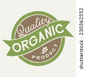 quality organic product vector...   Shutterstock .eps vector #230362552