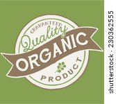 quality organic product vector...   Shutterstock .eps vector #230362555