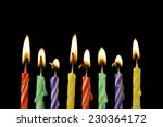 burning candles on black... | Shutterstock . vector #230364172