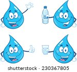 Blue Water  Drop Character In...