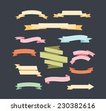vintage labels ribbon banners | Shutterstock .eps vector #230382616