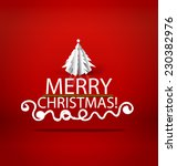 christmas lettering greetings... | Shutterstock .eps vector #230382976