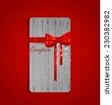 gift coupons with gift bows and ... | Shutterstock .eps vector #230382982
