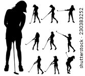 vector silhouette of the woman... | Shutterstock .eps vector #230383252