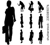 vector silhouette of a... | Shutterstock .eps vector #230385076