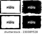 grunge frame set texture  ... | Shutterstock .eps vector #230389528