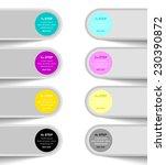 progress steps design element... | Shutterstock .eps vector #230390872