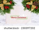 christmas decoration with paper ... | Shutterstock . vector #230397202