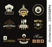 vintage set of restaurant signs ... | Shutterstock .eps vector #230408896