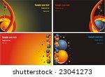 set of business cards. vector | Shutterstock .eps vector #23041273