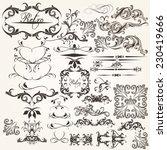 vector set of flourishes for... | Shutterstock .eps vector #230419666