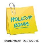 holiday bonus memo post...