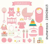 vector illustration of babies... | Shutterstock .eps vector #230428615