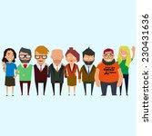 teamwork. concept of group of... | Shutterstock .eps vector #230431636