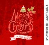 merry christmas  lettering....   Shutterstock .eps vector #230442016