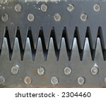 Overlapping Steel Teeth Of A...