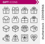set of thin line gift icons. | Shutterstock .eps vector #230448466
