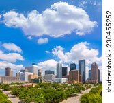 houston skyline from south in... | Shutterstock . vector #230455252