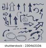 vector hand drawn arrow icon on ... | Shutterstock .eps vector #230463106
