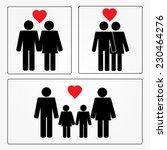 man in love vector man icon... | Shutterstock .eps vector #230464276