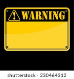 warning  sign  | Shutterstock .eps vector #230464312