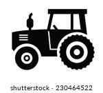 vector black tractor icon on... | Shutterstock .eps vector #230464522