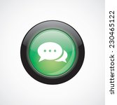 chat glass sign icon green...