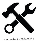 vector black wrench and hammer... | Shutterstock .eps vector #230465512