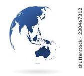blue transparent earth globe | Shutterstock .eps vector #230467312