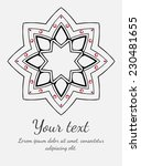 round vector ornament. circle...   Shutterstock .eps vector #230481655