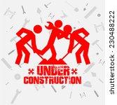 under construction illustration ... | Shutterstock .eps vector #230488222