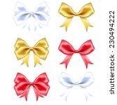 red  white and golden silk ... | Shutterstock .eps vector #230494222