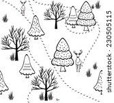 seamless winter forest scenery  ... | Shutterstock .eps vector #230505115