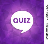quiz web icon on abstract... | Shutterstock .eps vector #230512522