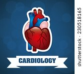 cardiology graphic design  ... | Shutterstock .eps vector #230518165