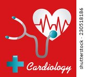 cardiology graphic design  ... | Shutterstock .eps vector #230518186