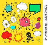 vector comic speech bubbles set | Shutterstock .eps vector #230529022